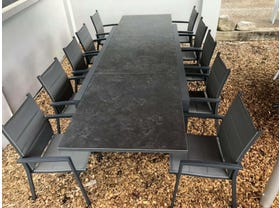 FLOOR MODEL - Bergen with Latina Chairs 11pc Outdoor Setting