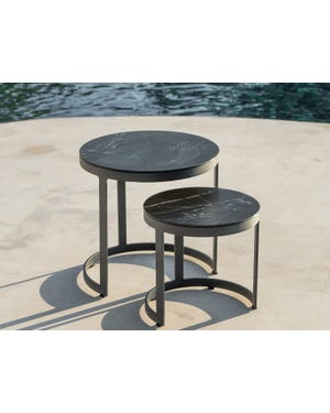 Bertus Ceramic Round Side Table Set