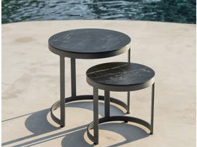 Bertus Ceramic Round Side Table Set