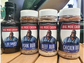 Big Moe Cason 4pk Rub & Sauce Package