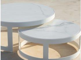 Burford Ceramic Round Coffee Table Set