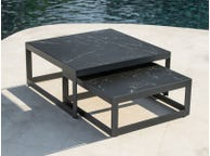Burford Ceramic Square Coffee Table Set
