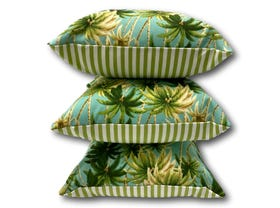 Coco Palm Verde Stripe Outdoor Cushions 3 Pack