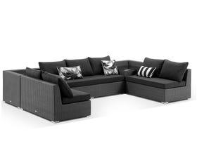 Como 7 Seater Outdoor Modular Lounge Setting