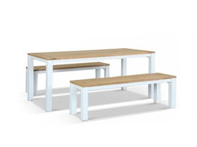 Corfu 180 Outdoor Teak Bench Set
