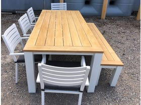 FLOOR MODEL- Corfu Table with Mayfair Chairs 8 Seater Outdoor Setting