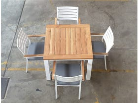 FLOOR MODEL -Corfu 95x95 Table with Astra Chairs 5pc Dining Set