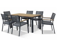 Corfu & Astra  Outdoor Dining Setting 7pc