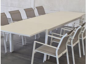 Hague Extension Table with Crudo Chairs 11pc Outdoor Setting -SYD ONLY