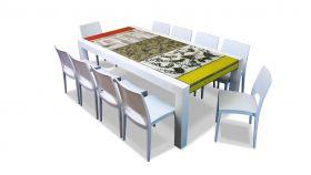 The Brando lava stone dining setting bellini mix 220 x 100