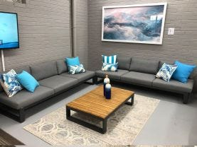 RUN OUT MODEL - Virginia 3pc Outdoor Platform Lounge Setting