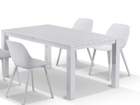 Adele table with Galati Chairs 5pc Outdoor Dining Setting