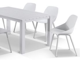 Adele table with Galati Chairs 7pc Outdoor Dining Setting