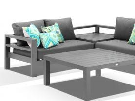Aspen 4 Seater Outdoor Aluminium Modular Lounge Setting