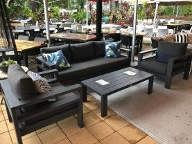 FLOOR MODEL -Aspen 4pc Outdoor Lounge Setting