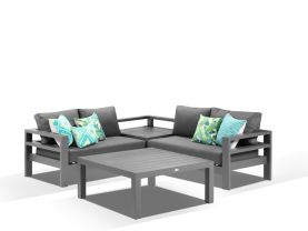 Aspen 4 Seater  Modular Lounge -Charcoal / Sooty