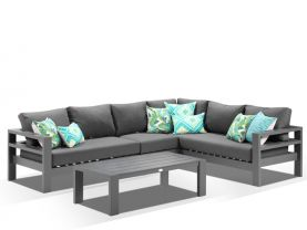 Aspen 6 Seater -Charcoal / Sooty