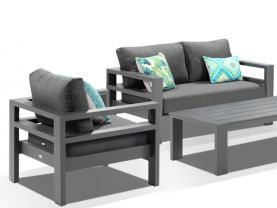 Aspen 4pc Outdoor Aluminium Lounge Setting