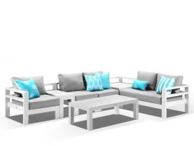 Aspen 5 Seater -White / Cast Slate