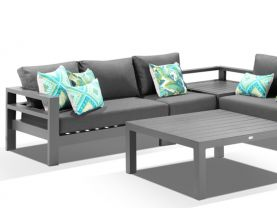 Aspen 5 Seater Outdoor Aluminium Modular Lounge Setting