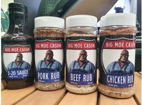 Big Moe Cason 4pk Rub & Sauce Package