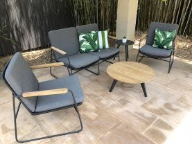 Buru 4pc Outdoor Rope Lounge Setting
