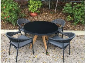 FLOOR MODEL -Ceara Table with Nivala Chairs 5pc Dining Set