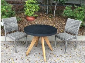 FLOOR MODEL -Ceara Table with Lucerne Chairs 3pc Balcony Set