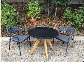 FLOOR MODEL -Ceara Table with Nivala Chairs 3pc Balcony Set