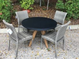 FLOOR MODEL -Ceara Table with Lucerne Chairs 5pc Dining Set