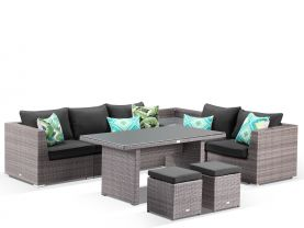 Como 9pc Low Dining Set -Lavash / Coal