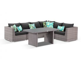 Como 7pc Outdoor Modular Lounge Dining Setting