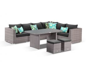Como 9pc Outdoor Modular Lounge Dining Setting