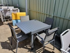 Bronte Extension Table with Latina Outdoor Dining Chairs