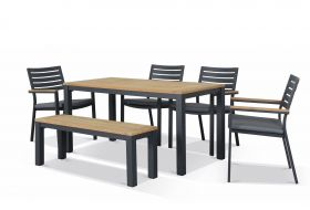 Corfu 6 Seater Outdoor Dining Setting