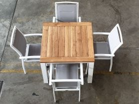 FLOOR MODEL -Corfu 95x95 Table with Verde Chairs 5pc Dining Set
