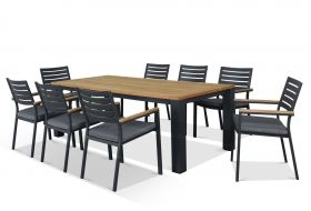 Outdoor Dining Setting -Corfu 9pc