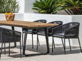 Elko Table with Gizella Chairs 7pc Outdoor Dining Setting