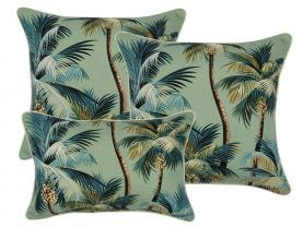 Palm Trees Lagoon Outdoor Cushions 3 Pack