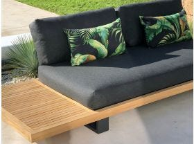 Palmiers in Night Outdoor Euro Bolster Cushion