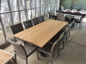 Fox 240 Table with Lucerne Armless Chairs