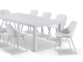 Adele table with Galati Chairs 9pc Outdoor Dining Setting
