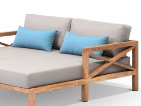 Hampton 3pc Teak Outdoor Chaise Set