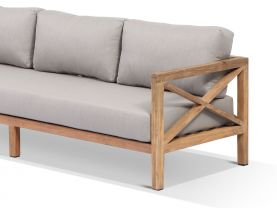 Hampton 5 Seater  Teak Outdoor Modular Lounge Setting
