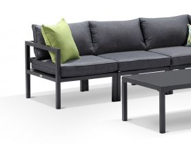 Provence 6pc outdoor modular lounge setting -Charcoal