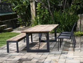 Laguna 240 Table with Pacific Chairs -6 Seater Outdoor Dining Setting