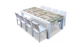 The Brando lava stone dining table 220 x 100