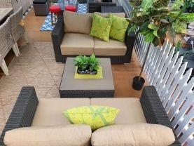 FLOOR MODEL- Raffles 3pc  Outdoor Lounge Set