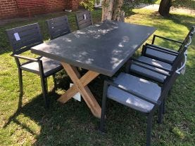 Osasco Table with Mayfair Chairs 7pc Outdoor Dining Setting