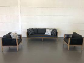 FLOOR MODEL - Oslo 3pc Teak Outdoor Lounge Setting
